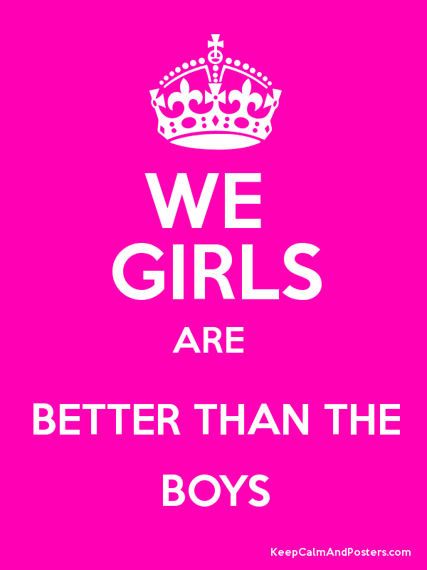 essay on girls are better than boys Why girls are smarter than boys essays: over 180,000 why girls are smarter than boys essays, why girls are smarter than boys term papers, why girls are smarter than boys research paper, book reports 184 990 essays, term and research papers available for unlimited access.